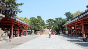 Sumiyoshi Taisha, Osaka, Japan. Osaka's Sumiyoshi Taisha (住吉大社, Sumiyoshi Grand Shrine) is one of Japan's oldestshrines. Founded in the 3rd century Royalty Free Stock Photos