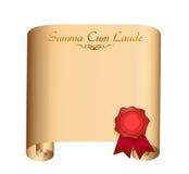 Summa Laude College graduation Diploma Stock Photos