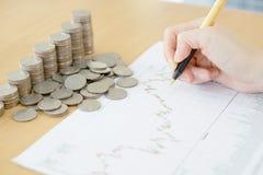Summarisk rapport och finansiellt analyserande begrepp, Royaltyfria Bilder