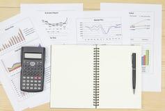 Summarisk rapport och finansiellt analyserande marknadsplan Royaltyfri Fotografi