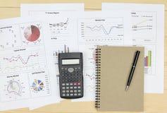 Summarisk rapport och finansiellt analyserande marknadsplan Arkivbilder