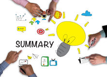 SUMMARY CONCECT SUMMARY CONCECT Royalty Free Stock Photos