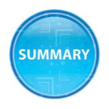 Summary floral blue round button. Summary Isolated on floral blue round button royalty free illustration