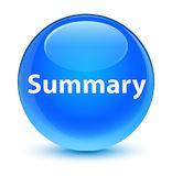 Summary glassy cyan blue round button Royalty Free Stock Images