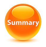 Summary glassy orange round button Stock Photo