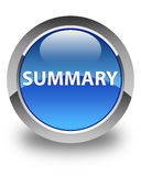 Summary glossy blue round button Royalty Free Stock Images