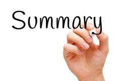 Free Summary Handwritten With Black Marker Stock Photos - 135249383