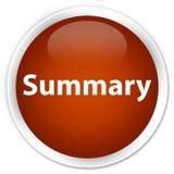 Summary premium brown round button Stock Photography