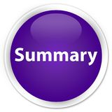 Summary premium purple round button Royalty Free Stock Photo