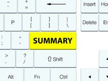 Summary yellow keyboard button Royalty Free Stock Images