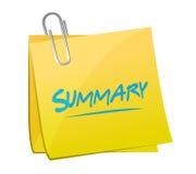 Free Summary Memo Post Illustration Design Stock Photos - 48081783