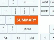 Summary orange keyboard button Royalty Free Stock Images