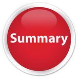 Summary premium red round button Stock Photography