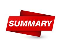 Summary premium red tag sign. Summary isolated on premium red tag sign abstract illustration royalty free illustration