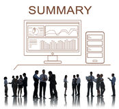 Summary Progress Analytics Computer Concept Stock Photography