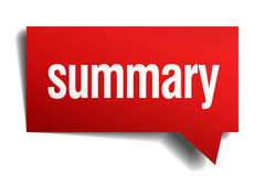 Summary red paper speech bubble Royalty Free Stock Images