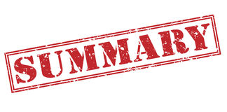 Summary red stamp Royalty Free Stock Photography
