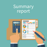 Summary report concept Stock Images
