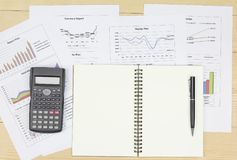 Summary report and financial analyzing market plan. Summary report and financial analyzing money market plan Review accounting data and calculate production Royalty Free Stock Photography