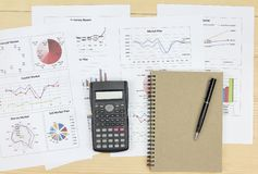 Summary report and financial analyzing market plan. Summary report and financial analyzing money market plan Review accounting data and calculate production Stock Images