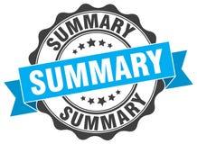Summary stamp Royalty Free Stock Image