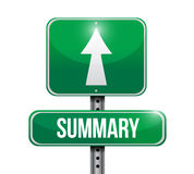 Summary street sign illustration design Royalty Free Stock Photo