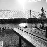 Summer湖变冷 免版税库存图片