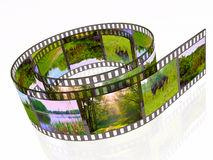 Summer. 3d film roll with colour pictures (summer Stock Image