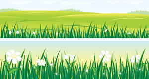 Summer. Beauty panoramas with summer landscapes (vector available vector illustration