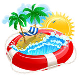 Summer. Icon with life buoy Royalty Free Stock Photos