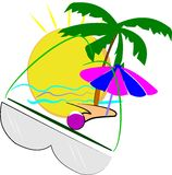 Summer 2012. Elements of anticipation for summer in 2012 over white Royalty Free Stock Images