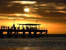 Summer. A summer sunset along a metropolitan beach Royalty Free Stock Photography