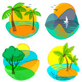 Summer. Set with cute summer icons Stock Photography