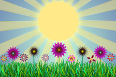 Summer. The image is created in Adobe Photoshop and Adobe Illustrator. No sources or references Royalty Free Stock Photography