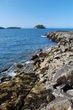 Summer. Kayaking trip to Keats Island, BC,Howe Sound Royalty Free Stock Photos