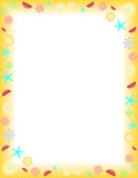 Summer. Frame on a Letter paper format, vector Stock Photo