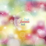 Summer abstract background with bright colors and glare Royalty Free Stock Photos