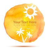 Summer Abstract Background on Watercolor Texture Stock Photography