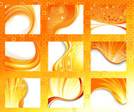 Summer abstract backgrounds collection Stock Image
