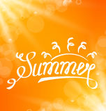 Summer Abstract Banner with Text Lettering Royalty Free Stock Photography