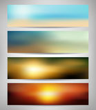 Summer Abstract Blurred Banners Royalty Free Stock Photos