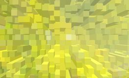 Summer abstraction warm colors illustration of a 3D extrusion. Web-design royalty free stock photos