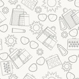 Summer accessories background sketch Stock Images