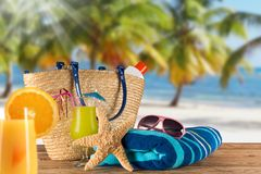 Summer accessories Stock Photo