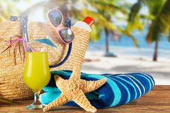 Summer accessories Stock Image