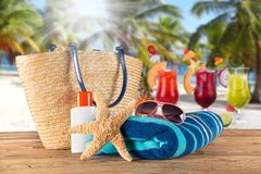 Summer accessories Royalty Free Stock Images