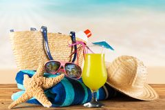 Summer accessories Royalty Free Stock Photography