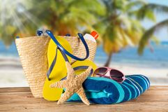 Summer accessories Stock Photography