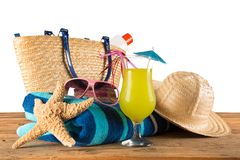 Summer accessories Royalty Free Stock Photos