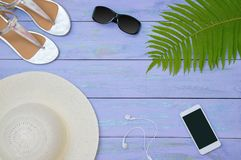Summer accessories. royalty free stock image